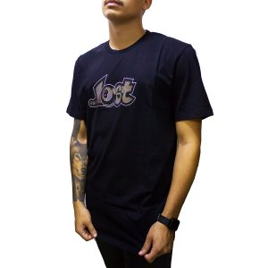 CAMISETA LOST OPTICAL LOGO - PRETA