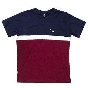 Camiseta Blaze Supply Tee Tricolor Pipe White Marine