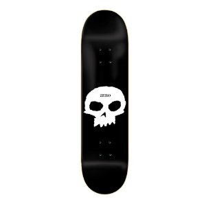 "SHAPE IMPORTADO ZERO SKATEBOARD SINGLE SKULL 8.0"" + LIXA EMBORRACHADA GRATIS"