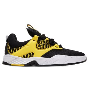 TÊNIS DC SHOES KALIS S BLACK YELLOW - EXCLUSIVO