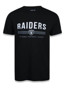 CAMISETA NEW ERA NFL OAKLAND RAIDERS STRIPES - PRETA