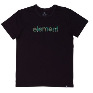 CAMISETA ELEMENT WATER CAMO MARK - PRETA