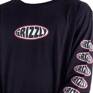 Camiseta Grizzly Manga Longa Bulge Preta