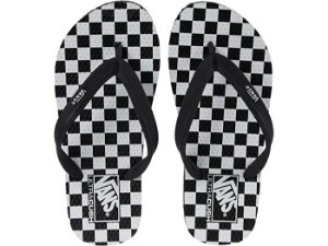 Chinelo Vans Makena Checkerboard Preto/Branco