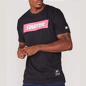 Camiseta Starter Estampada Logo - PRETA