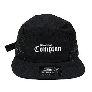 BONÉ STARTER 5 PANEL STREETS OF COMPTON - FULL BLACK