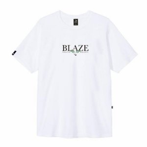 Camiseta Blaze supply Tee Leaf White