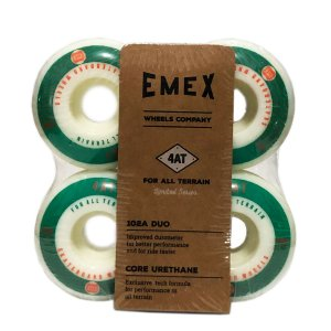 RODA EMEX IMPORTADA CORE URETANE 53MM GREEN/WHITE - SERIE 4AT 102a DUO