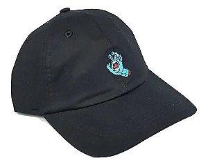 Boné Santa Cruz  Screaming Hand Dad Hat Aba Curva - Preto