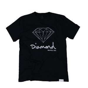 CAMISETA DIAMOND OG SIGN TEE - BLACK