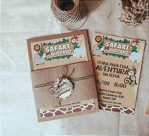 Convite Safari baby