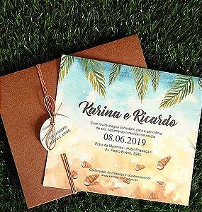Convite de Casamento Praia