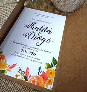 Convite de casamento Rustico