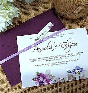 Convite casamento Uva