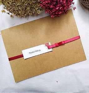 Convite de casamento Rustico Marsala
