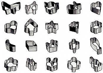 Cortadores de petit-four inox jogo com 20 modelos / h 4cm