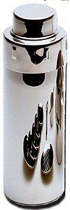 Coqueteleira pub com tampa dosadora / aço inox / 600ml