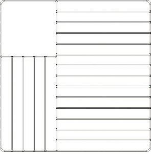 Grade para rack de pratos de mesa/ 25,4 x 27,9cm
