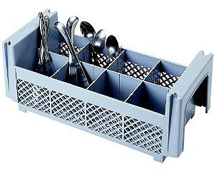 Meia cesta para talheres 8 compartimentos/ 18,4cm