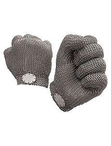 luva de proteção em aço inox / pp, p, m, g, gg