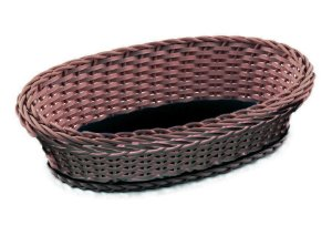 cesta oval lisa marron /PP