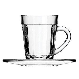 xícara Americano café espresso com pires / 90ml / Ø 11cm x h 7,3cm