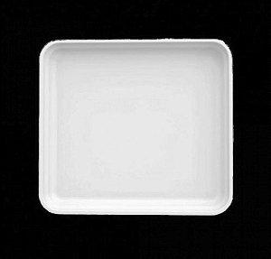 Travessa rasa porcelana 1/2 - 32 x 25cm / h 4,5cm