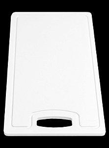 Placa em altileno / 15x500x300mm / branca / com Canaleta