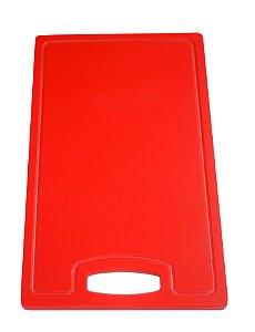 Placa Altileno 15x500x300mm Vermelha com Canaleta