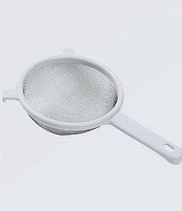Peneira plástica Top Pratic / tela inox /18cm