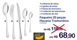 Faqueiro Havana Tramontina / 20 peças