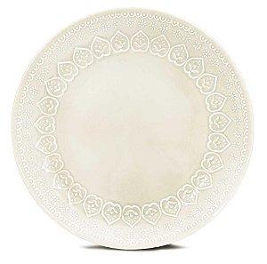 Corona Prato Raso Relieve Branco 26cm