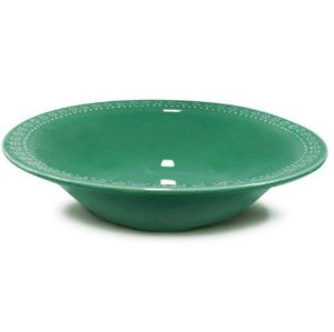 Corona Prato Fundo Relieve Verde 21cm