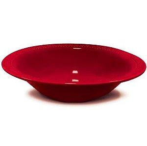 Corona Prato Fundo Relieve Vermelho 21cm