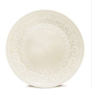 Corona Prato Sobremesa Relieve Branco 20cm