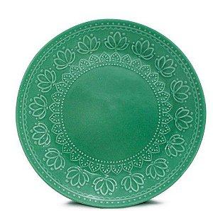 Corona Prato Sobremesa Relieve Verde 20cm