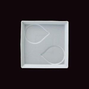 Base para Bowl Gota Couvert / 16,5 x 16,5cm / h 2,2cm