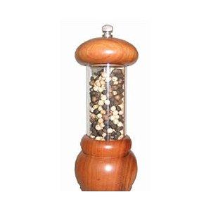 Moedor de pimenta / acrílico e madeira / Ø 6,4cm x 15cm