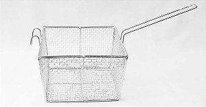 Peneira fritura quadrada cônica / 20 x 20cm