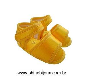Sapatinho Sandália com Fecho de Velcro Customizável