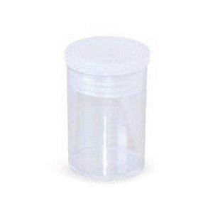 Frasco Plástico Transparente Cristal com tampa (J07)