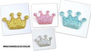 Coroa Gliterizada com 4 Pontas 4x3cm Shine Beads®
