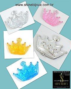 Chaton de Acrílico Coroa 2 em 1 20x15mm Shine Beads®