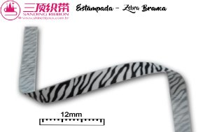 Fita Sanding® Gorgurão estampa zebra Nº02/2 (12mm)