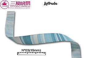 Fita Sanding® Gorgurão estampa Listrada Nº03 (15mm)
