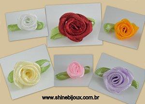 Flor de Cetim Rococó com Pétalas 12mm Shine Beads®