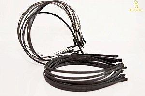Tiara de Metal encapada com cetim trançado 130x5mm Shine Beads®