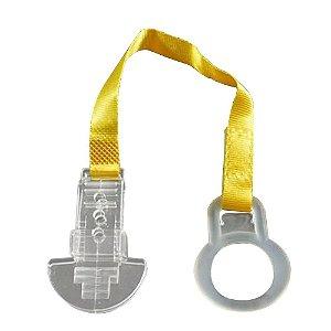 Prendedor para chupetas (NAM) customizável com anel de silicone, fita, velcro e acrílico Shine Beads®