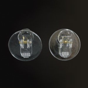 Prendedor Clip para chupetas e crachás  redondo 30mm acrílico Shine Beads®