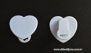 Prendedor Clip para chupetas e crachás coração 35mm acrílico Shine Beads®